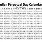 Mopar Julian Perpetual Day Calendar E Bodies