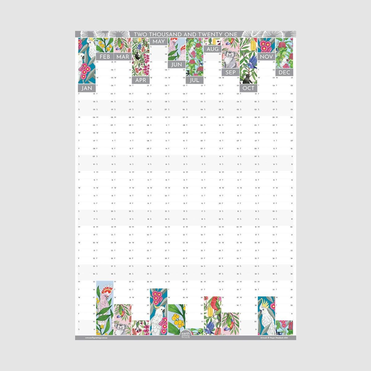 Negin Maddock 2021 Wall Planner Paper Republic