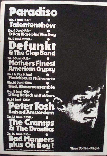 Original Silkscreen Concert Poster For The Music Schedule