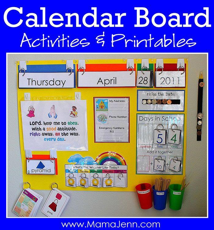 Our New Calendar Board Preschool Calendar Classroom