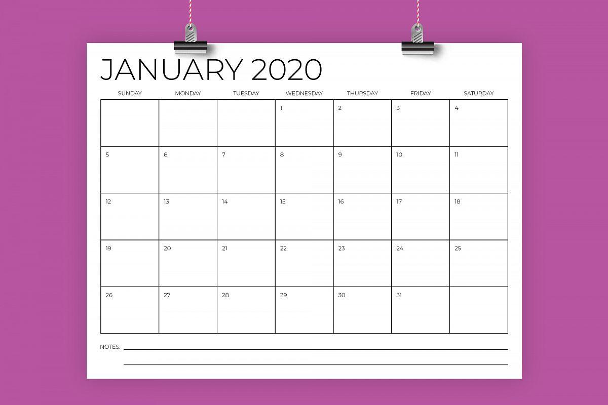Pick 8 5 By11 Calendar Printable 2020 Calendar