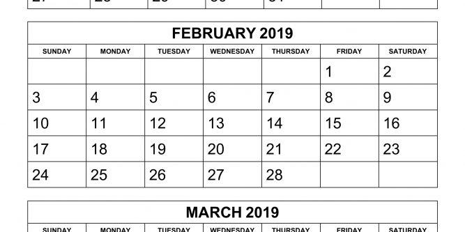 Printable 6 Week Calendar 2019 Free Printable Calendar