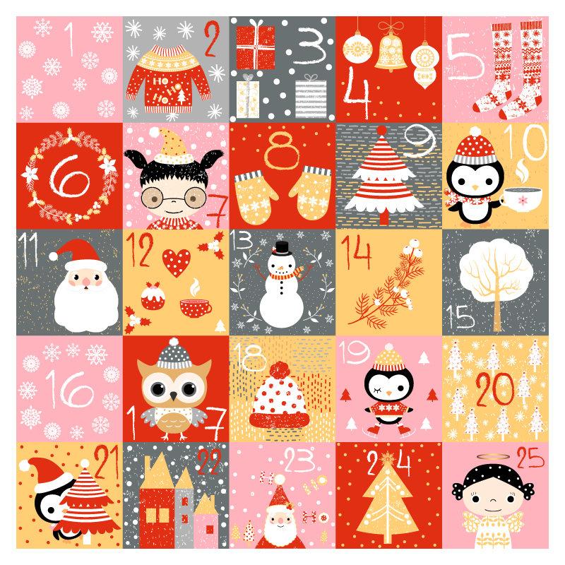 Printable Advent Calendar Numbers Digital Christmas