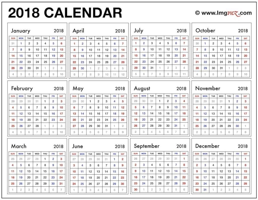 Printable Calendar Year At A Glance Ten Free Printable