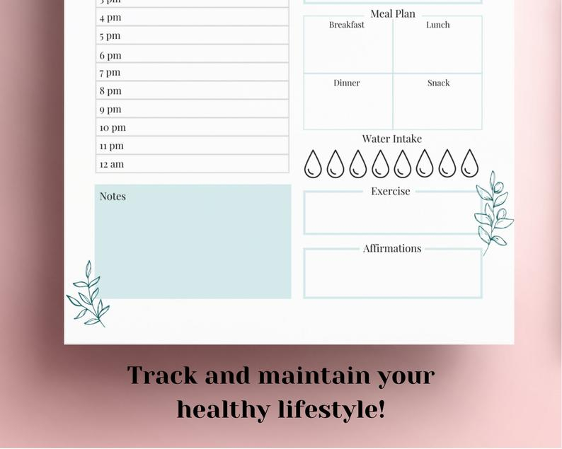 Printable Daily Planner 2020 2021 Hourly Planner Day Etsy 2