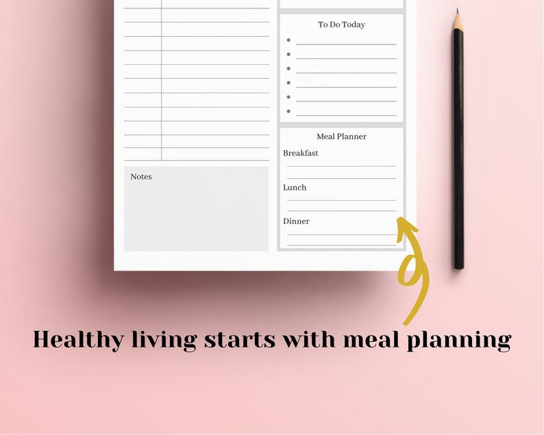 Printable Daily Planner 2020 2021 Hourly Planner Day Etsy 3