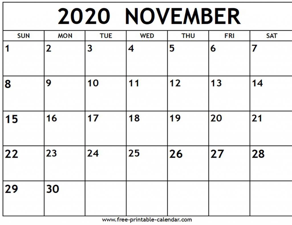Printable November 2020 Weekly Calendar With Time Slots