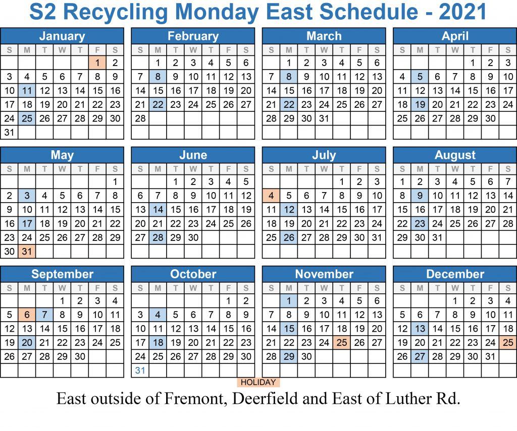 Service Schedules 2021 S2 Roll Offs