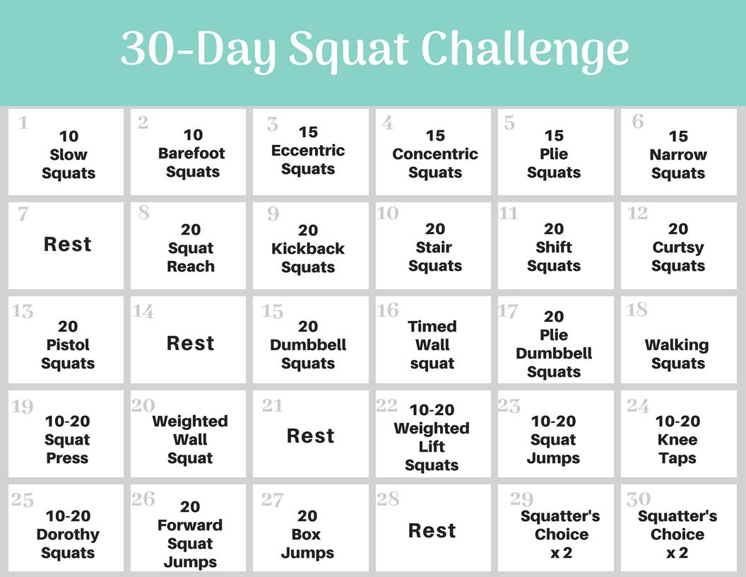 Squat Challenge Lifestar It