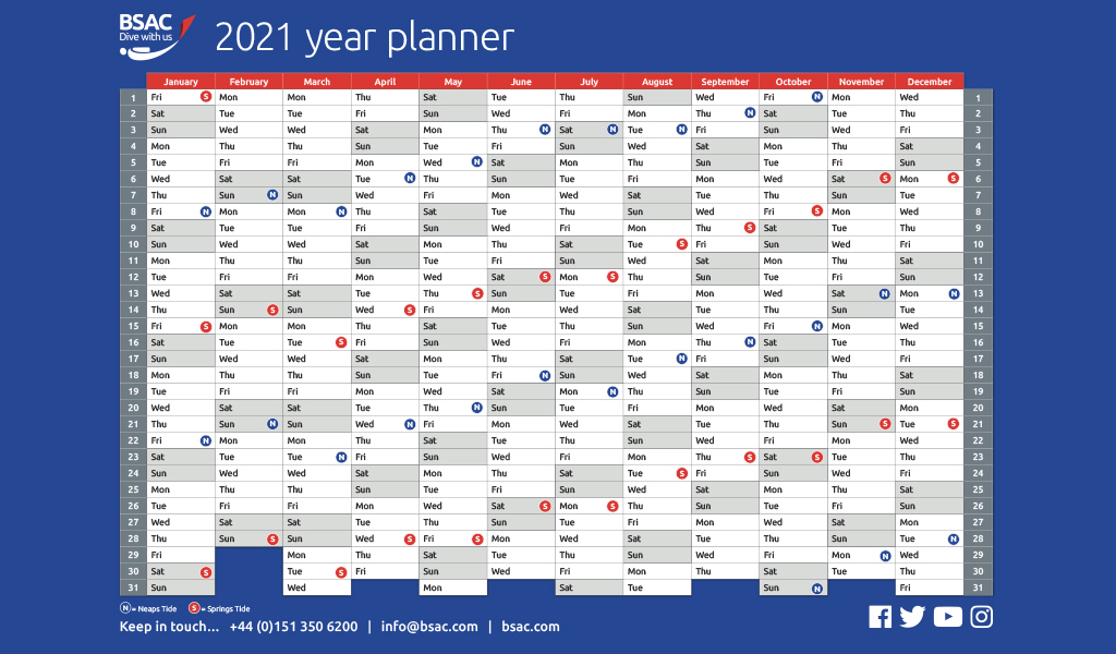 Started Planning For 2021 Bsacs Year Planner Is Now