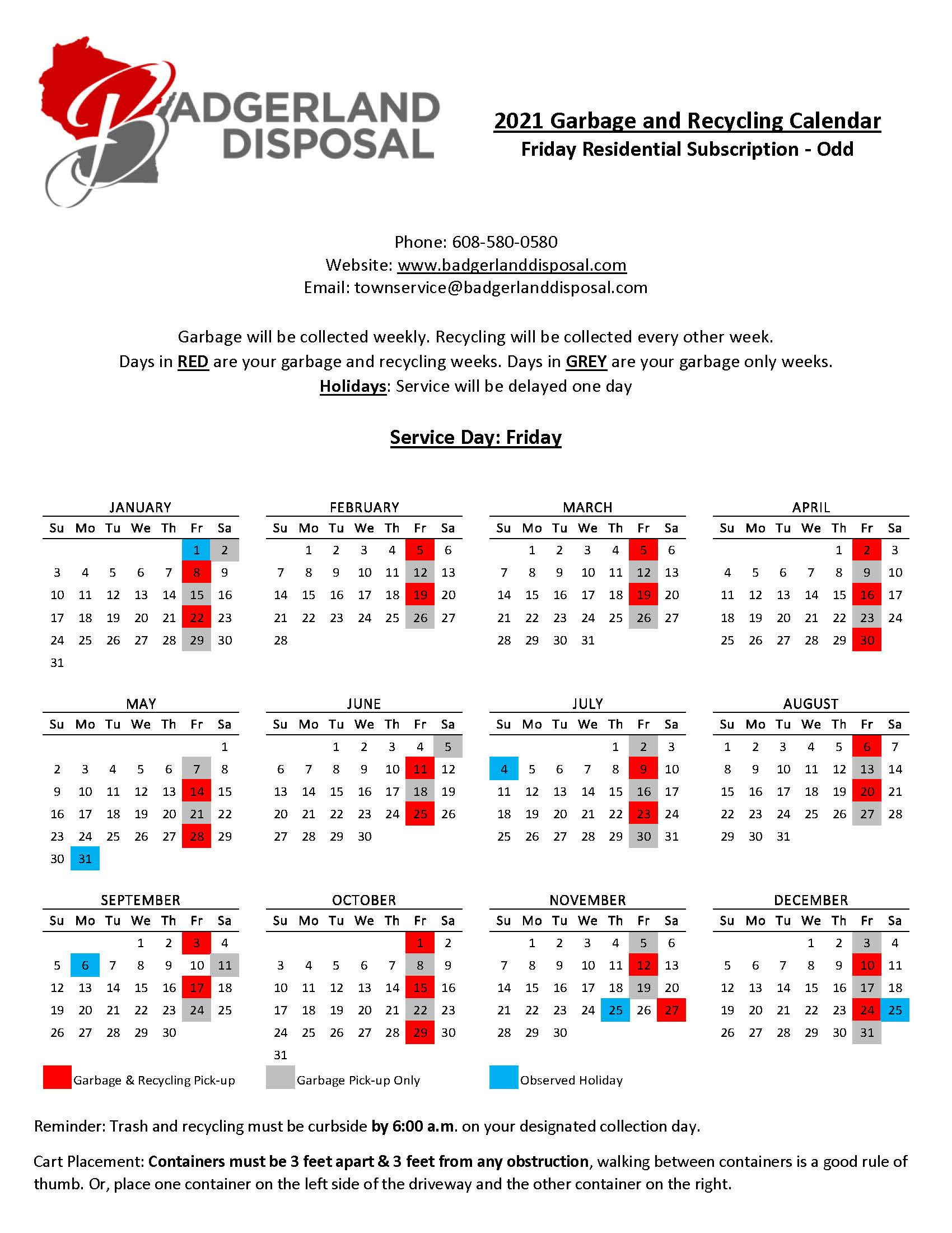 stay up to date with holiday schedules other important