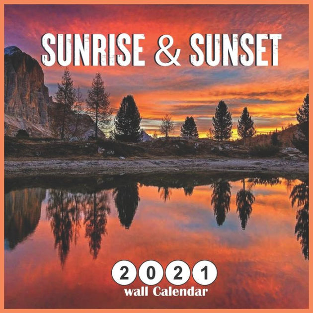 Sunrise Sunset 2021 Wall Calendar 18 Months Mini Wall