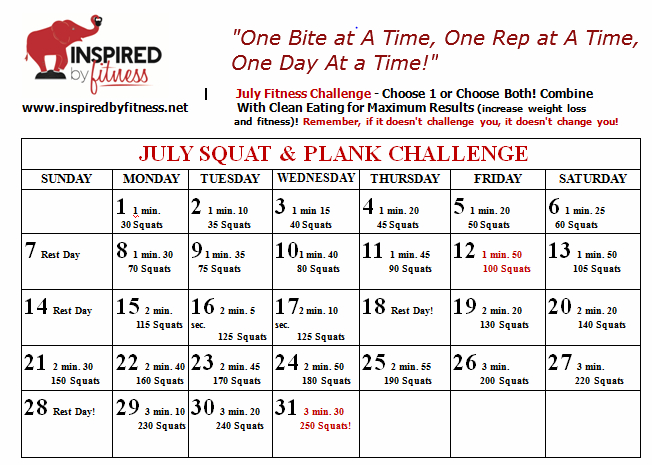 Susanvanhoosen July Squat And Plank Challenge