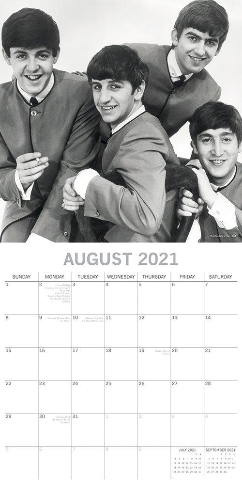 The Beatles 2021 Premium Square Wall Calendar 16 Month 1
