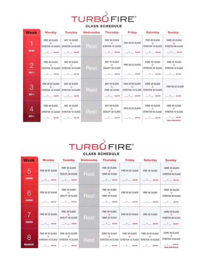 Turbo Fire Workout Calendar Calendar Template 2019 3