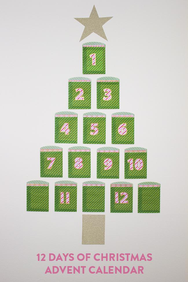 Twelve Days Of Christmas Advent Calendar Handmade