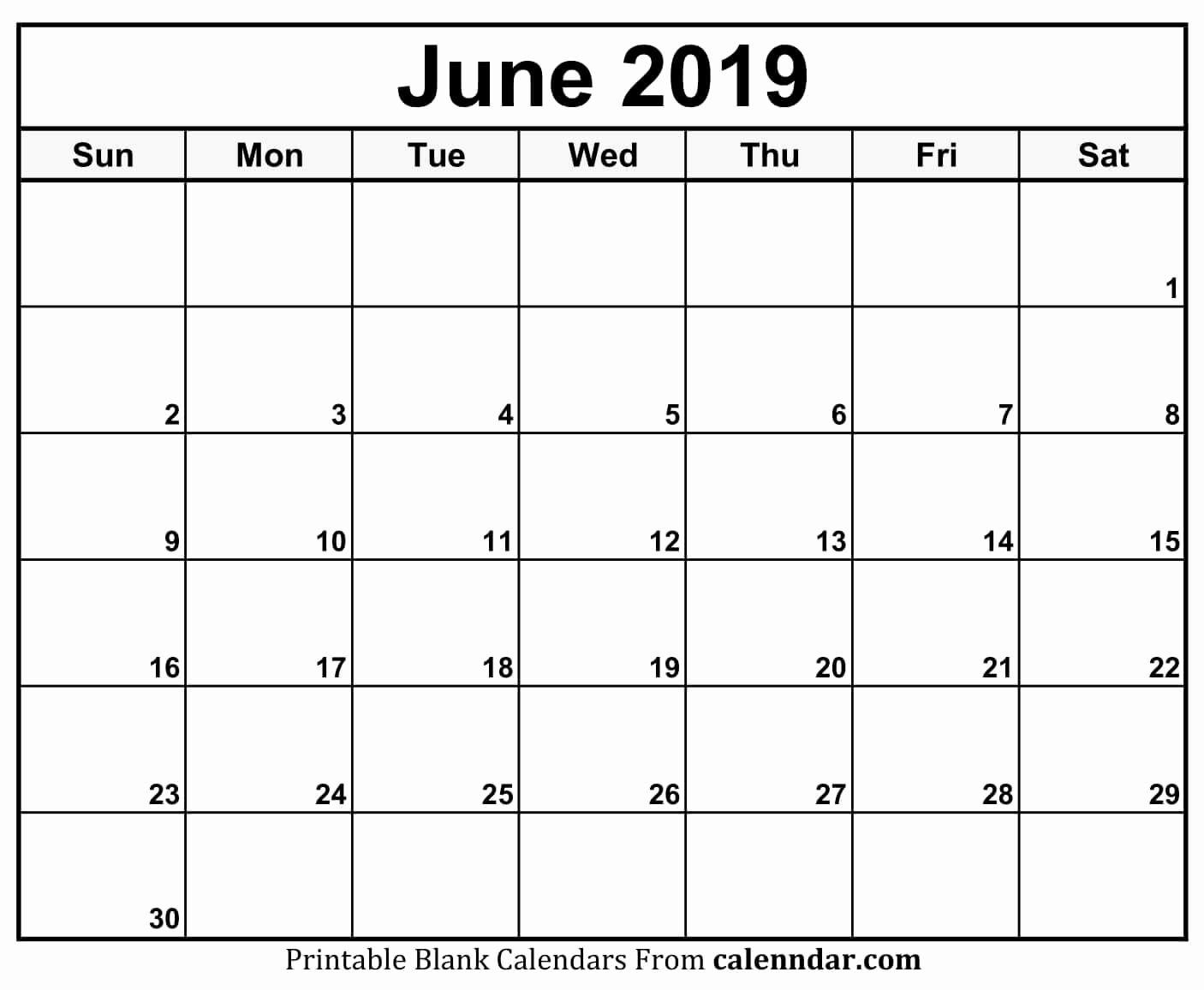 Unique 49 Examples Printable Daily Calendar June 2019