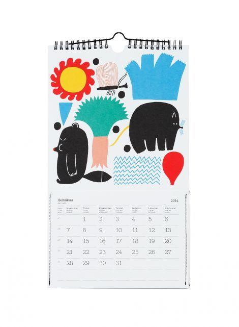 Wall Calendar Year 2014 Decor Office Miscellaneous