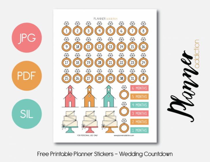 Wedding Countdown Printable Calendar Template 2021