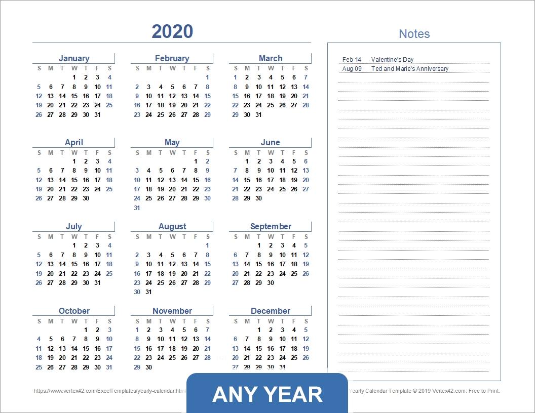 Year View Calendar Excel Ten Free Printable Calendar