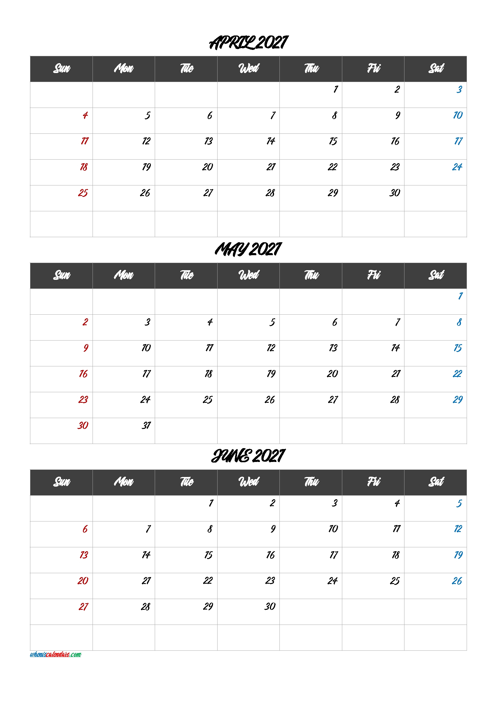 1st Quarter Calendar 2021 Month Calendar Printable