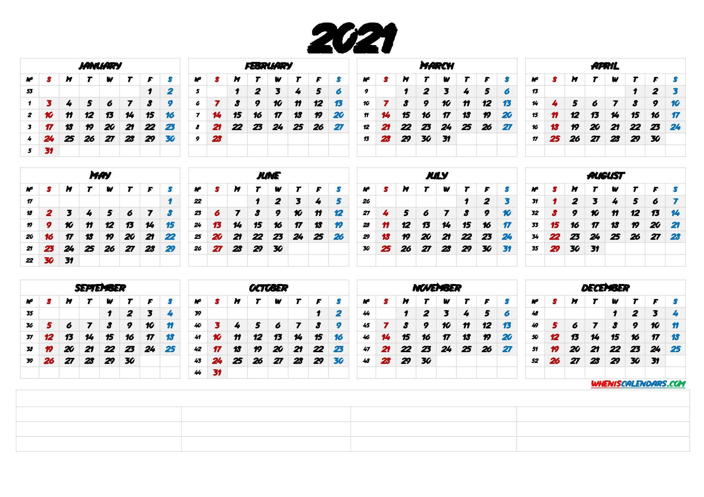 20 Calendar 2021week Number Free Download Printable Calendar Templates Efb88f