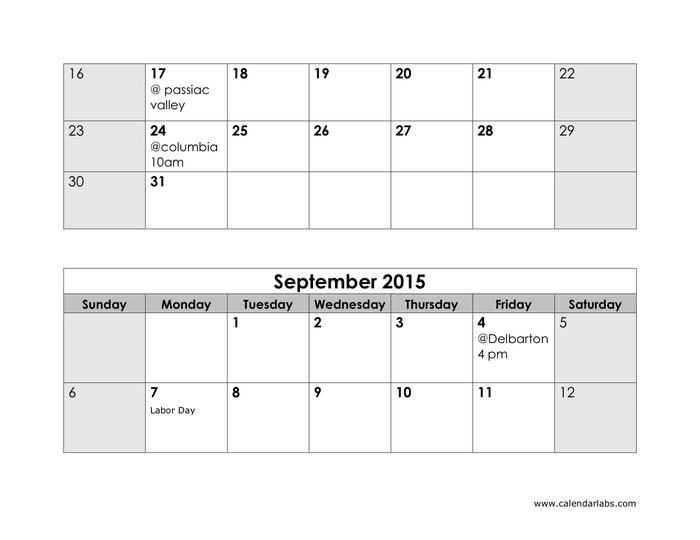 2015 Yearly Calendar In Word And Pdf Formats Page 4 Of 5