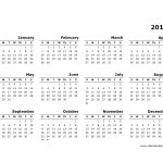 2016 Yearly Calendar Template 10 Free Printable Templates