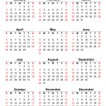 2020 12 month single file calendar printable free
