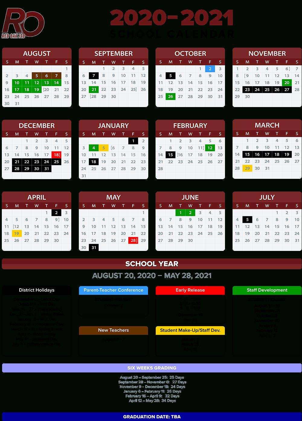 2020 2021 School Calendar Annual Calendar 2020 2021