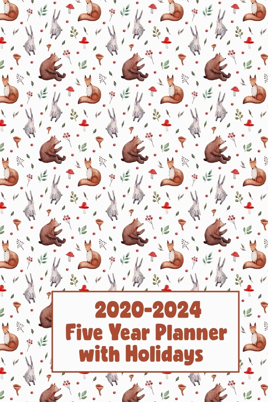 2020 2024 Five Year Planner With Holidays 60 Month Pocket