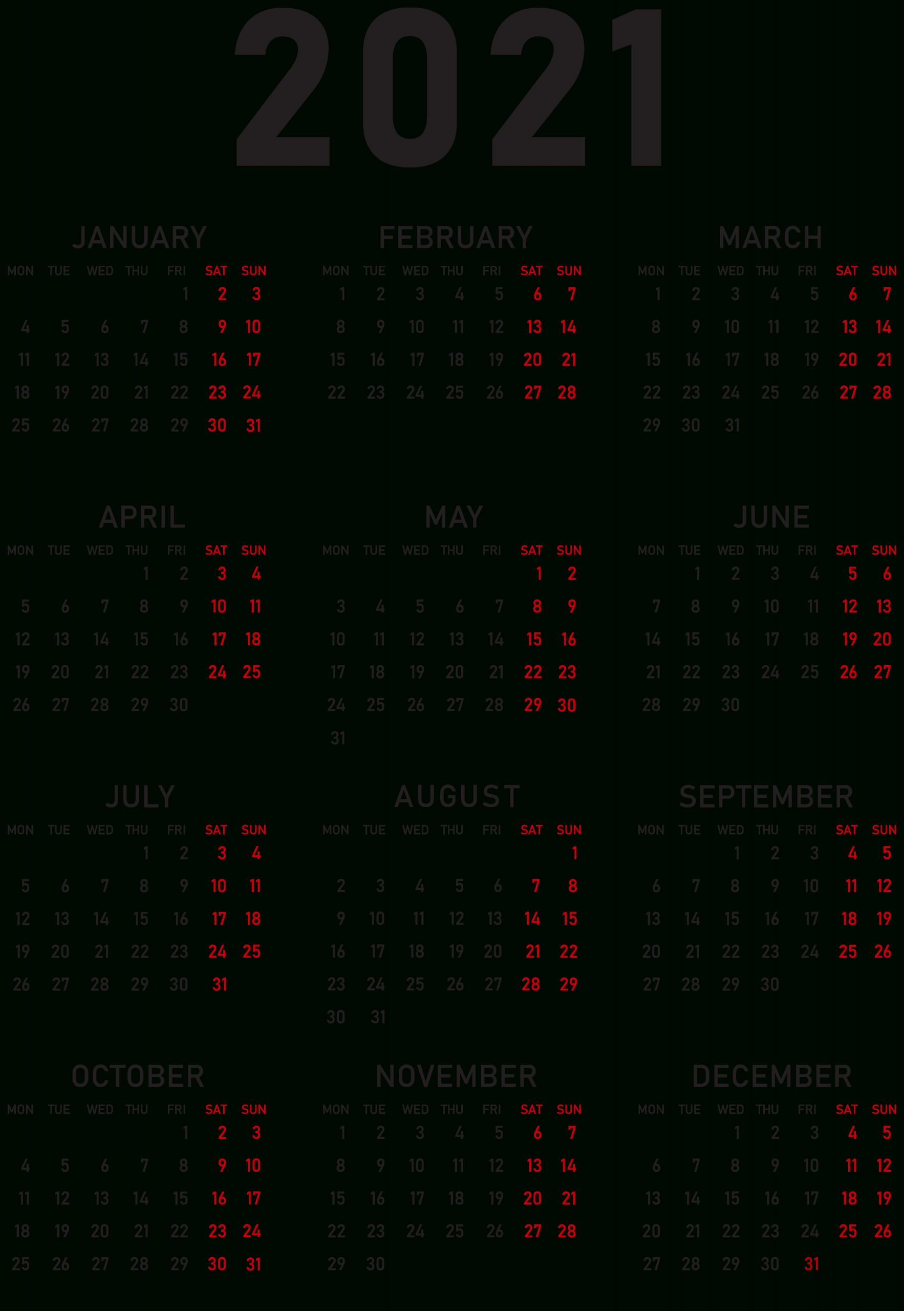 2021 Calendars Wallpapers Wallpaper Cave