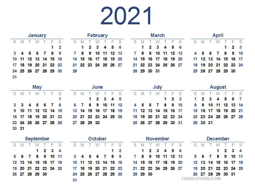 2021 Daily Calendar To Write Your Important Schedule
