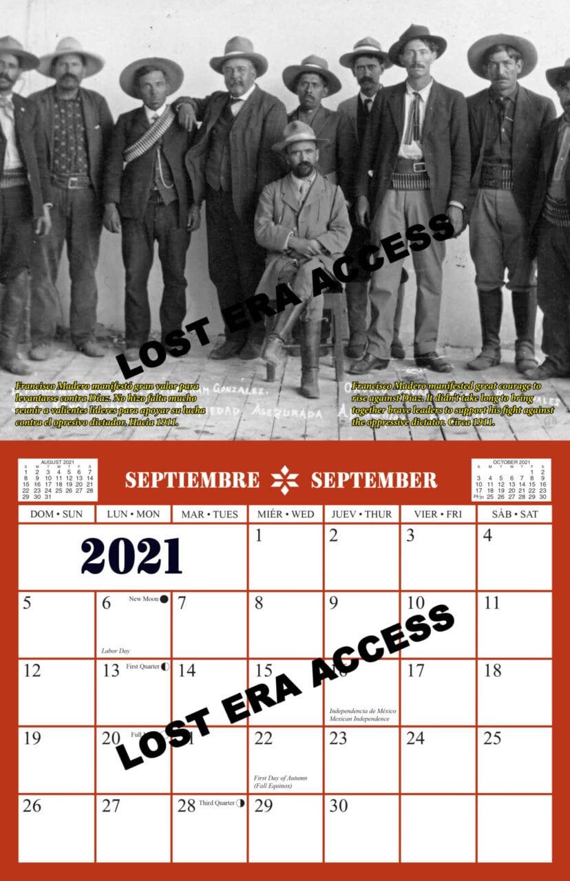 2021 Mexican Heritage Collectors Calendar Lost Era Access 2