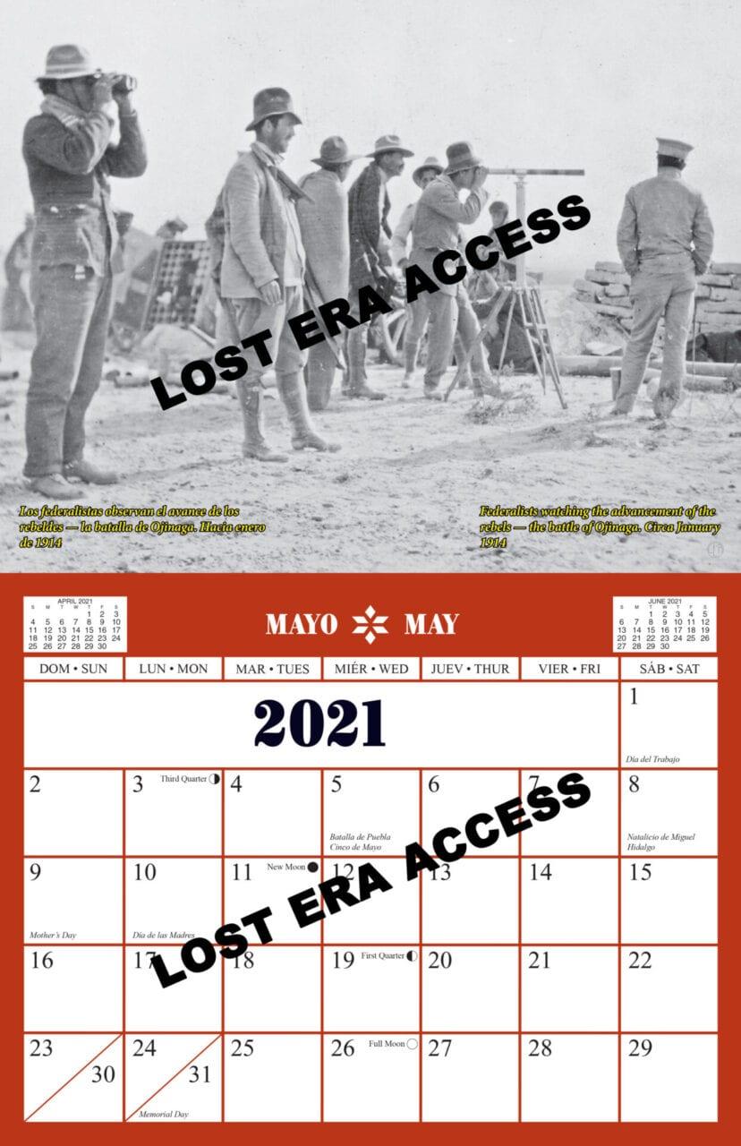 2021 Mexican Heritage Collectors Calendar Lost Era Access