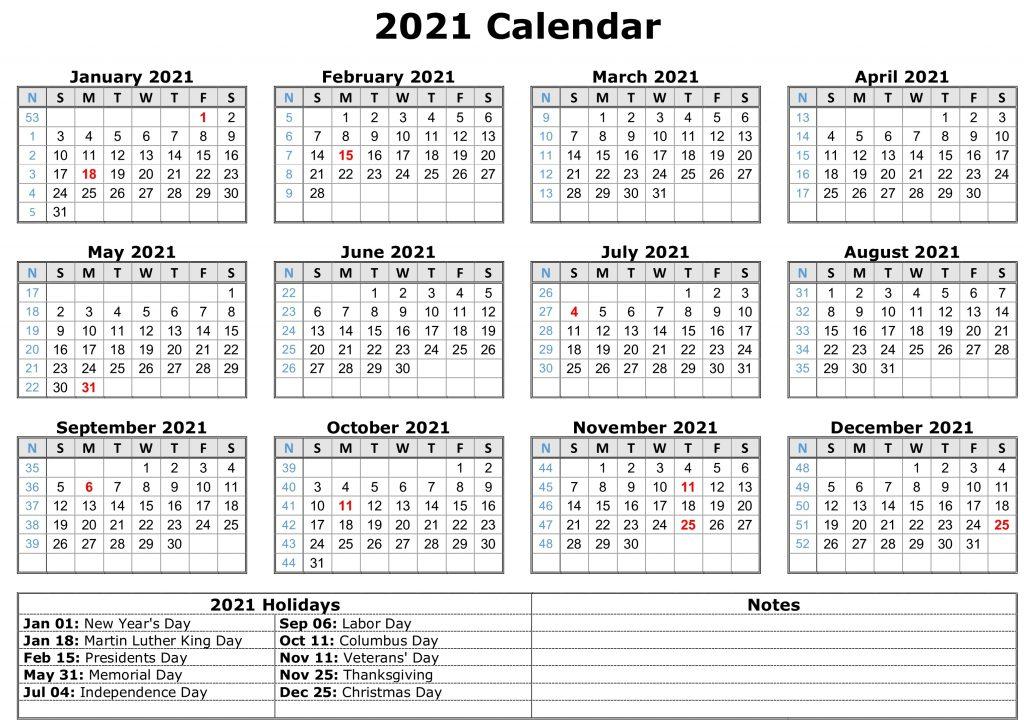 2021 Monthly Calendar Printable Word 2021 Calendar Pdf