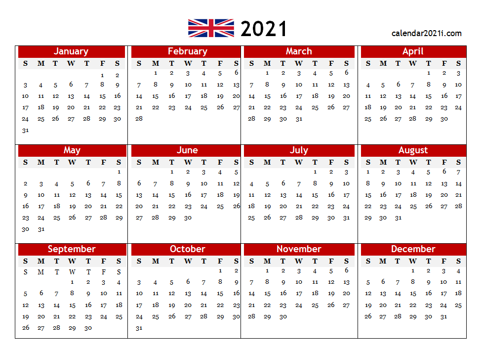 2021 Printable Monthly Calendar With Holidays Word 2021