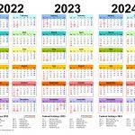 2022 2024 Three Year Calendar Free Printable Pdf Templates
