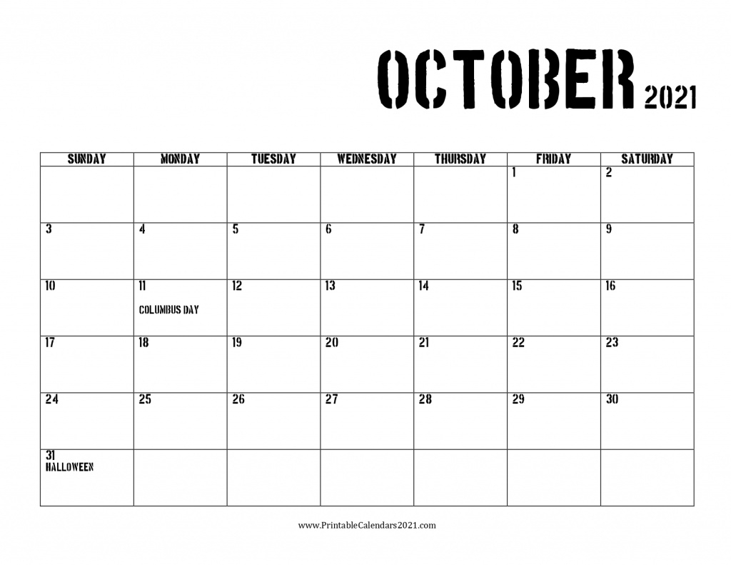 42 October 2021 Calendar Printable October 2021 Calendar