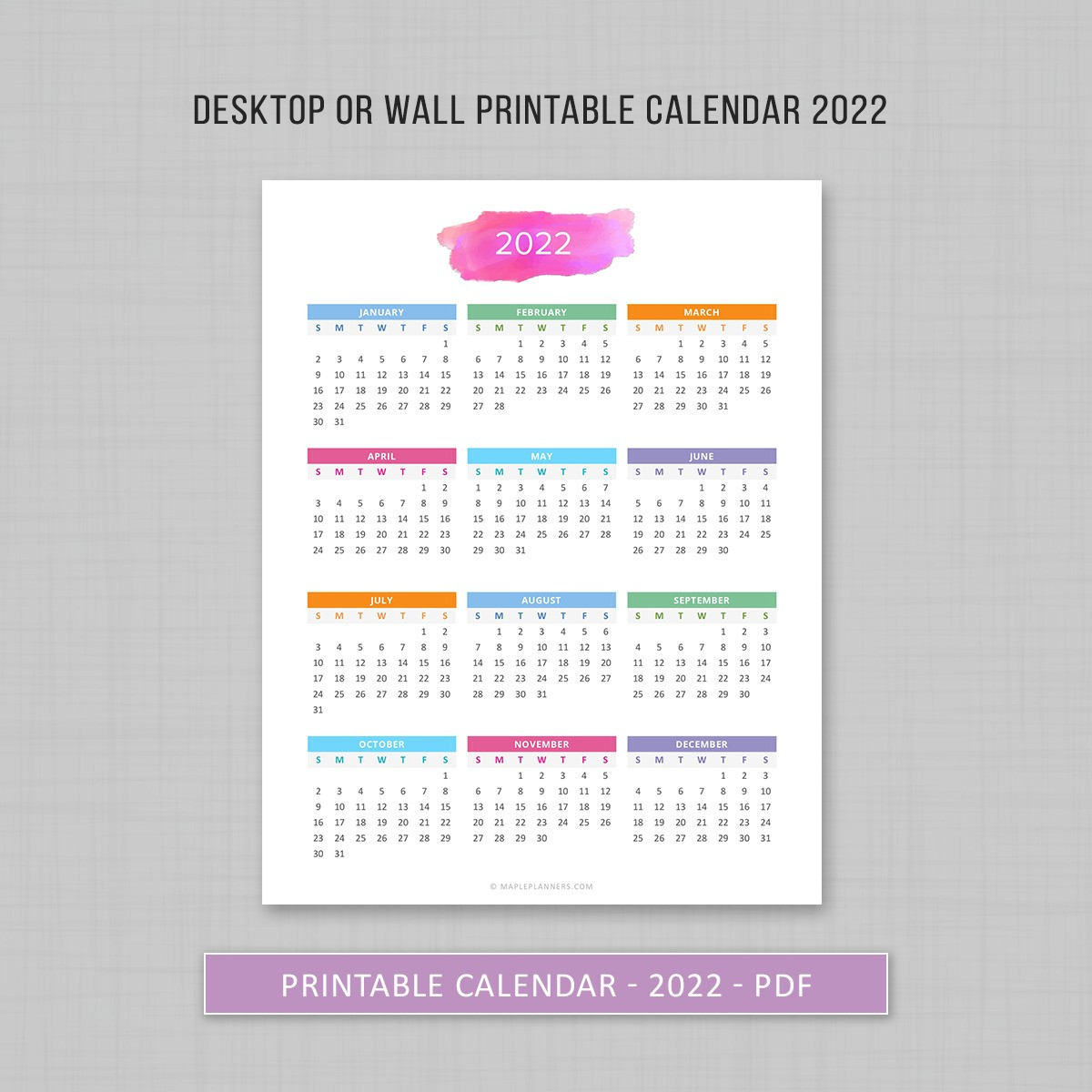 5 Year Calendar 2014 2021 Calendar Template 2020