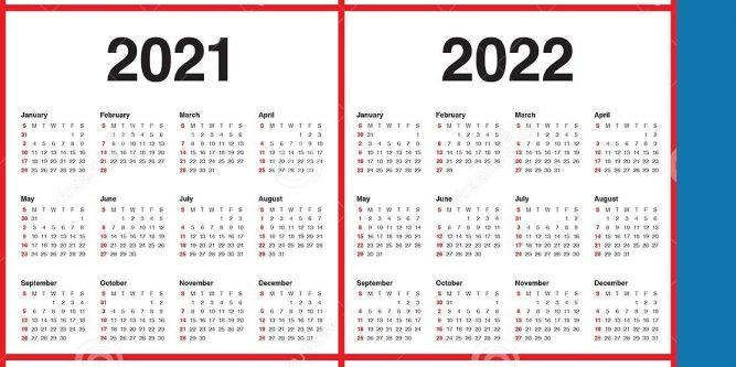 5 Year Calendar 2020 To 2024 Printable Calendar Free
