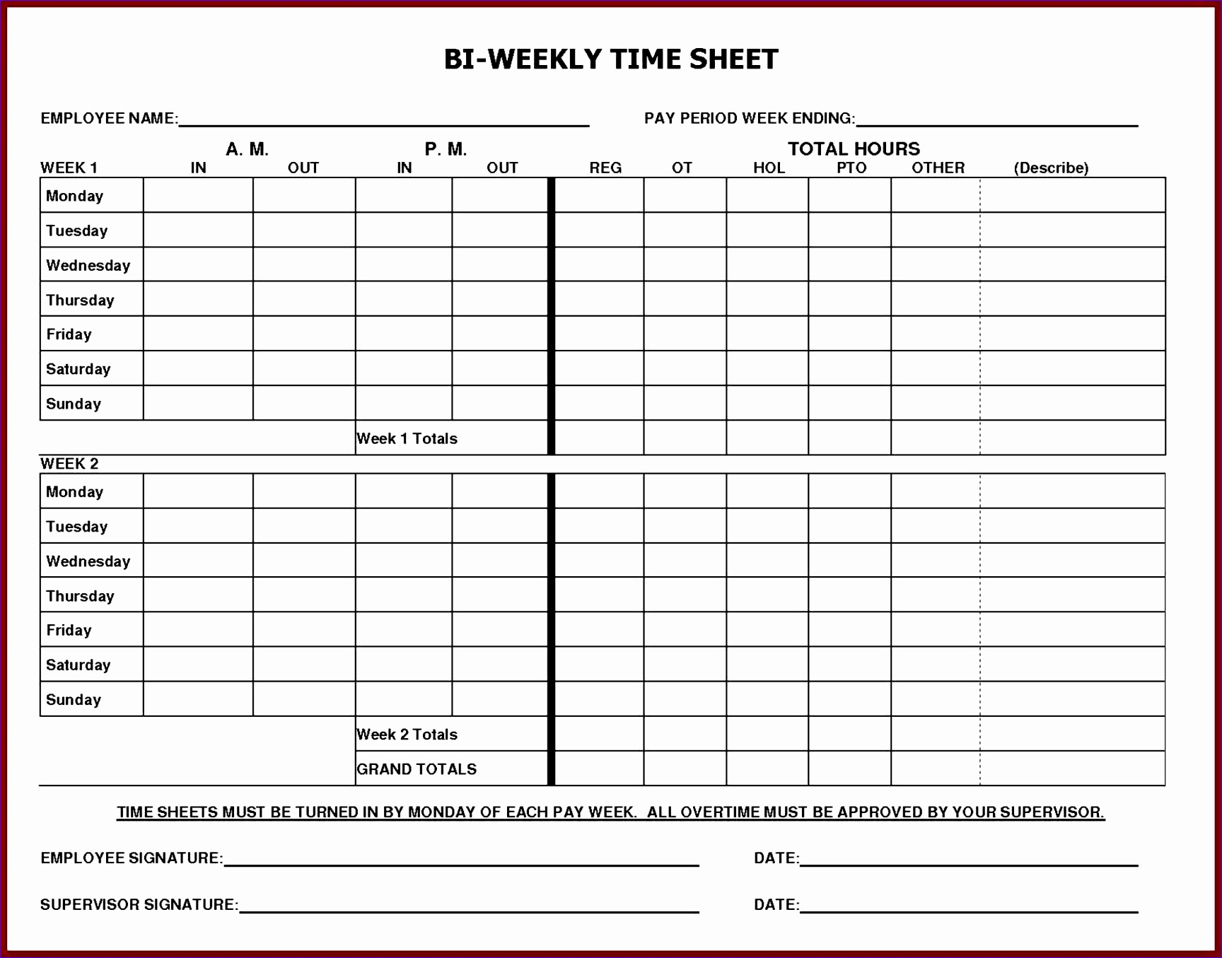 6 Free Excel Timesheet Template With Formulas Excel