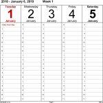 6 Week Calendar Template Word Weekly Calendar Template