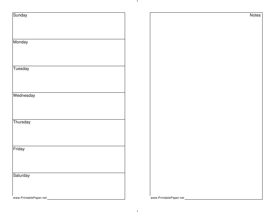 7 Day Weekly Planner Template Download Printable Pdf