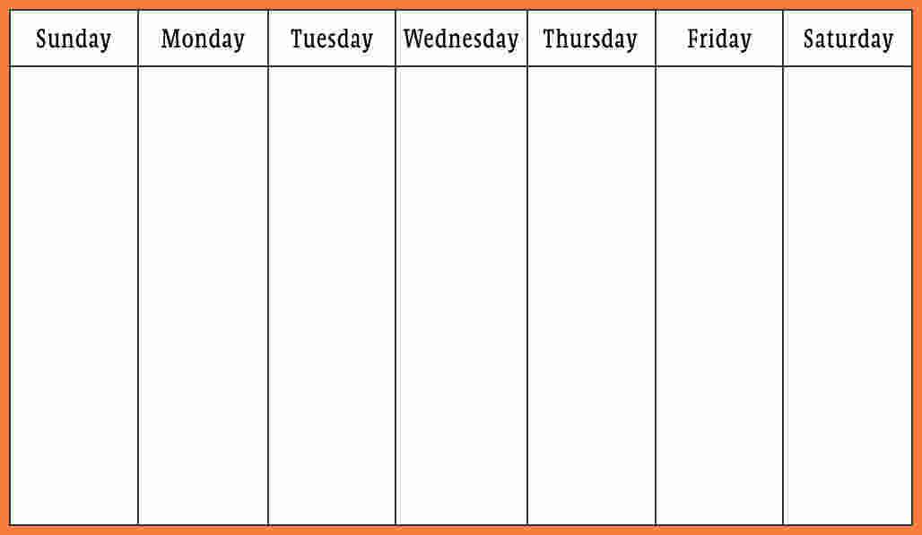 7 Weekly Calendar Template Word Marital Settlements