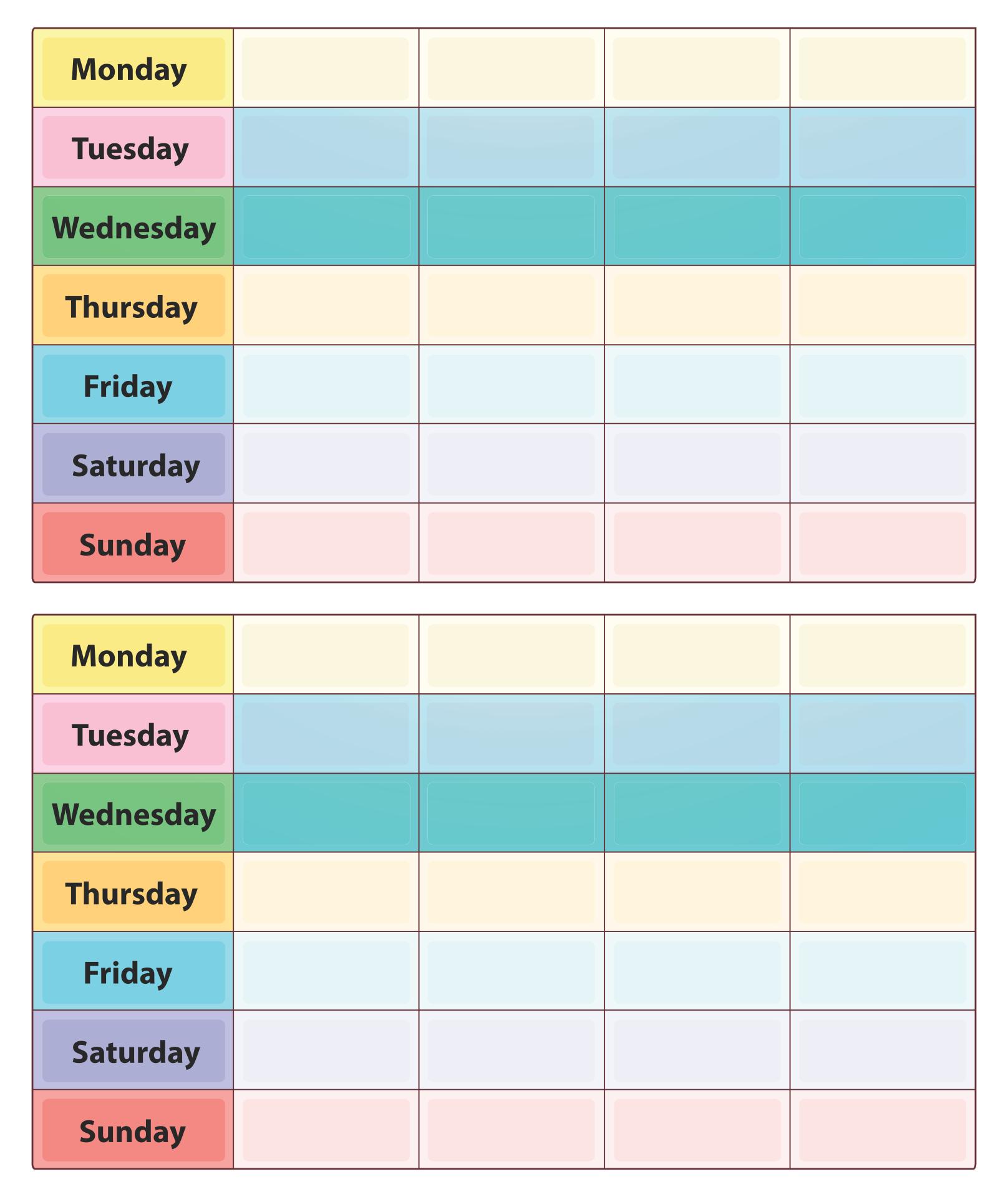 8 Best 2 Week Printable Calendar Weekly With Time 1