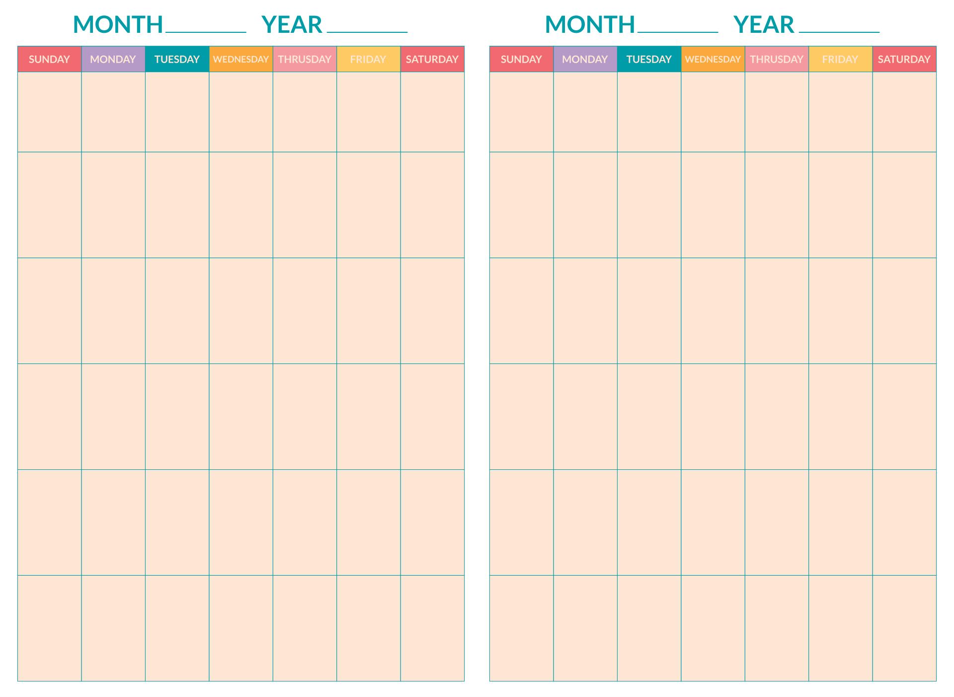 8 Best 2 Week Printable Calendar Weekly With Time
