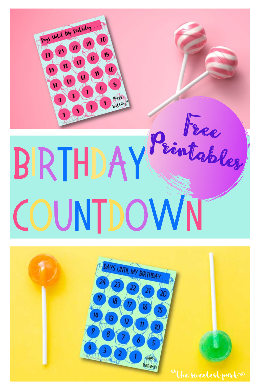 A Fun Birthday Tradition Birthday Countdown Printable
