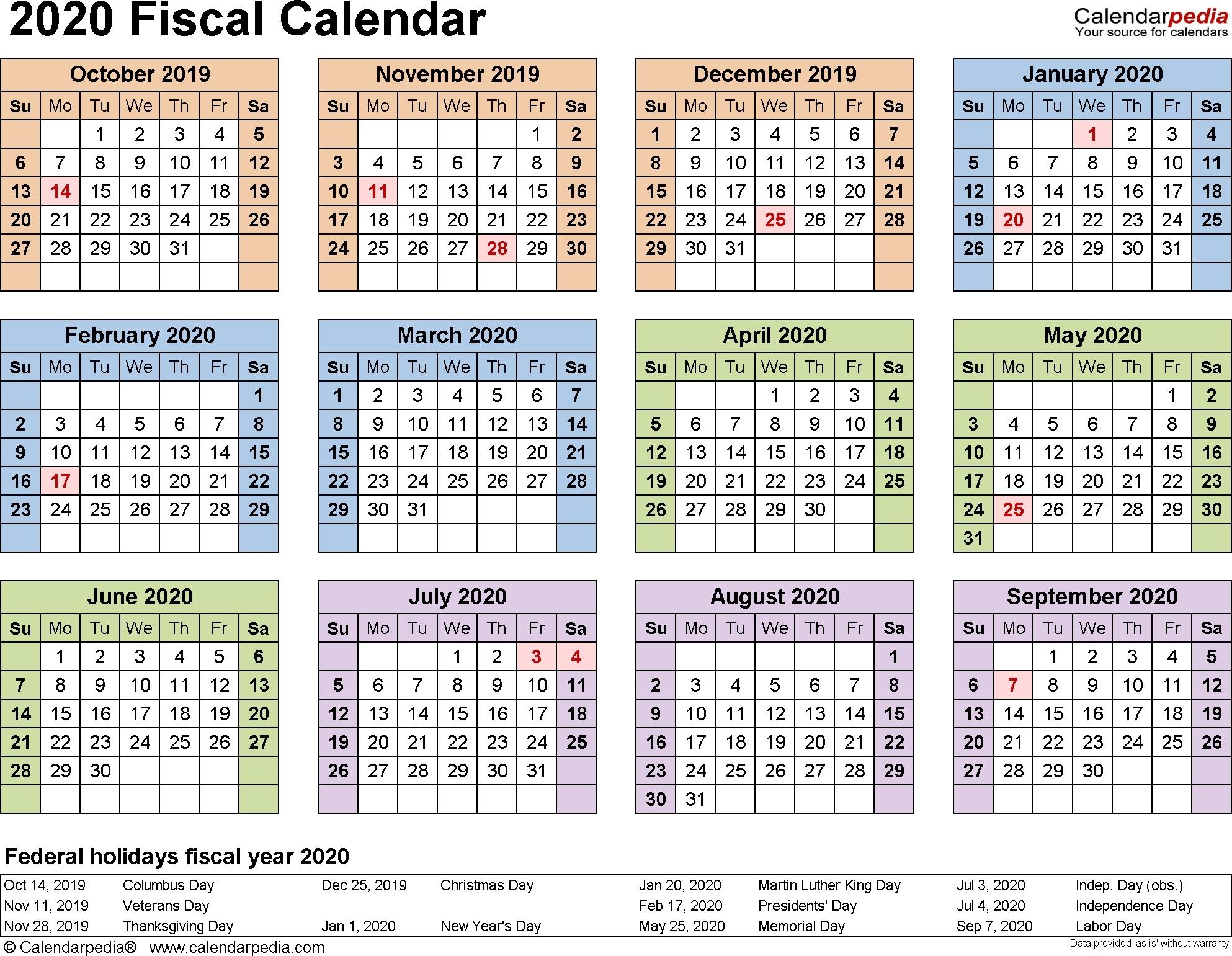 April 2020 Page 3 Template Calendar Design