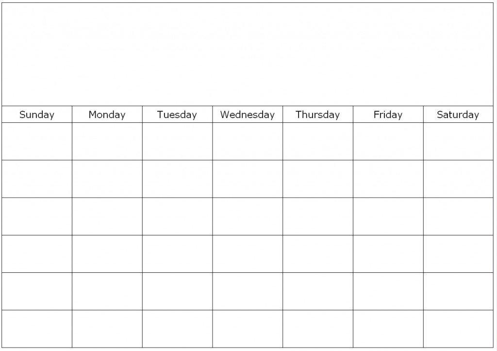 Blank 7 Day Schedule Free Calendar Template